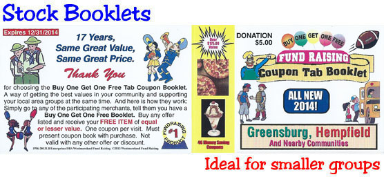 Stock Booklet Coupons for Fund Raising