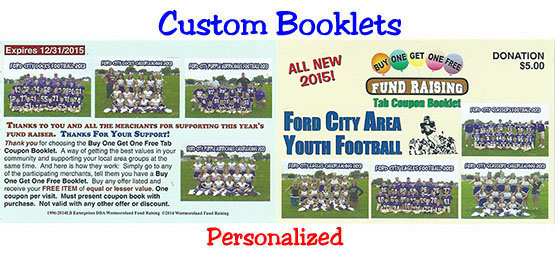 Custom Booklet Coupons for Fund Raising